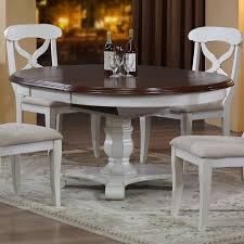 round pedestal dining table with butterfly leaf shop sunset trading andrews round to oval dining table with