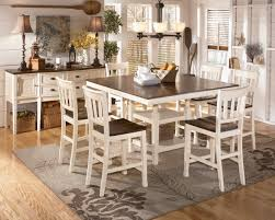 whitesburg 7 piece square counter height extension table set in