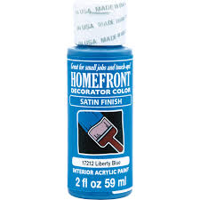 homefront 2oz decoratior interior satin acrylic paint in liberty