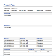 simple project plan and schedule powerpoint template sample