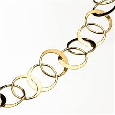 circle gold necklace images Double circle chain necklace 14k yellow gold jpg