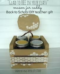 back to teacher gift diy mason jar caddies