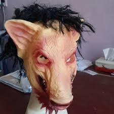 Saw Mask Aliexpress Com Buy Halloween Masquerade Mask Saw Mask 3 Hair And