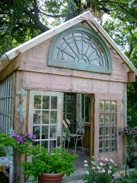 greenhouse made of salvaged windows big enough for nursery