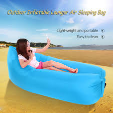 Beach Lounger Docooler Outdoor Portable Inflatable Lounger Polyester Air Sleep