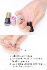 cherry blossom nail tutorial everyday theresa