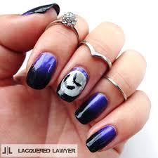 Halloween Nail Art Bats by Lacquered Lawyer Nail Art Blog October 2014