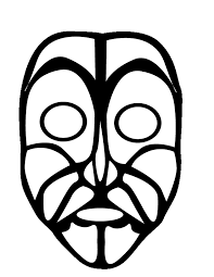 mask coloring page coloring home