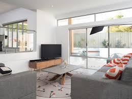 Living Room Recessed Lighting Recessed Lights Contemporary Design Art Lighting Gray Rug Sofa