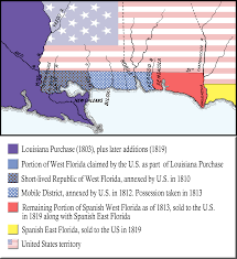 Louisiana Purchase Map by When Florida Touched The Mississippi The Florida Memory Blog