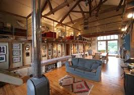 Barn House Decorating Ideas  Converted Into Cool Living Room - Barn interior design ideas