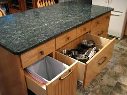 kitchen island trash trash bin storage kitchen island home design ideas intended for