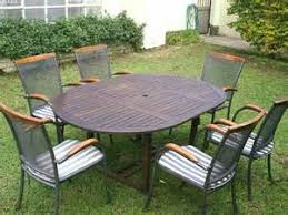 6 Seat Patio Table And Chairs Wooden Garden Furniture Set 6 Seat Folding Patio Table Chairs