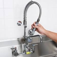 T S Pre Rinse Faucet T U0026s Mpz 8wcn 08 Easyinstall Wall Mounted 22 1 4