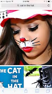 simple cat in the hat face paint original halloween pinterest