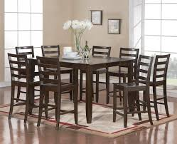 High Kitchen Tables by Counter Height Kitchen Table And Chairs Dark Wood Round Counter