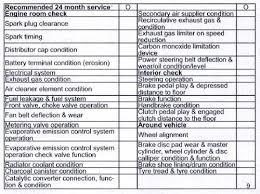 2011 toyota service schedule toyota blade 2006 2012 service schedule and maintenance note