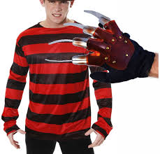 freddy krueger costume freddy krueger costume hat jumper and glove fancy dress