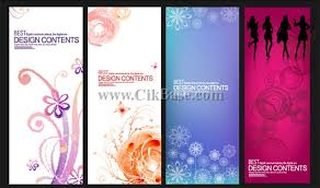4 x banner vector pattern background design templates to download