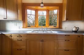 Kitchen Bay Window Treatments Alluring Kitchen Sink Bay Window Treatments Reanimators Picture