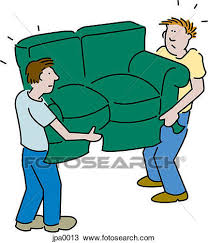 moving furniture clipart drawing two men moving a sofa couch