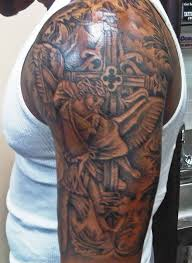 dove and cross tattoo 31 best christian tattoos on half sleeve