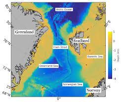Arctic Ocean Map Fram Strait Wikipedia