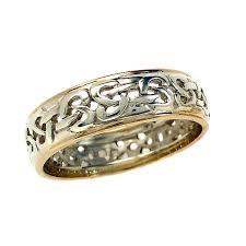 scottish wedding rings mixed gold celtic wedding ring by scottish jewellery designer and