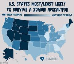 us state map with alaska will your state survive a apocalypse new york will fall