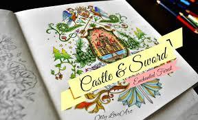 enchanted forest coloring book castle u0026 sword floresta