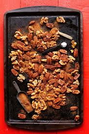 christmas nuts 1 pan candied spiced nuts minimalist baker recipes