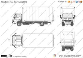 mitsubishi truck 2015 the blueprints com vector drawing mitsubishi fuso box truck