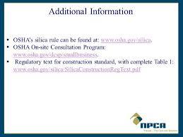 osha silica rule table 1 osha final rule occupational exposure to respirable crystalline