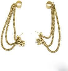 ear ring photo flipkart buy trinketbag cuff chain and flower alloy cuff