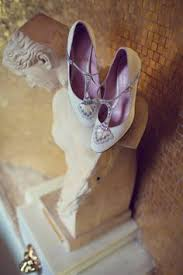 blue wedding shoes a short dress and tipis for a humanist