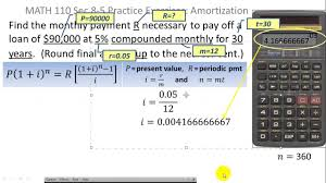 how to calculate monthly loan payments finance finding the monthly payment for a loan youtube