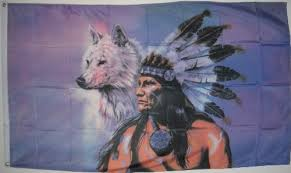 3 x5 indian with wolf flag buy in uae