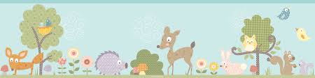 Woodland Forest Peel And Stick Woodland Animals Wallpaper Wallpapersafari