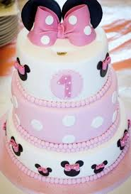 minnie mouse birthday cake minnie mouse theme birthday cake in 3 tiers with pink bows