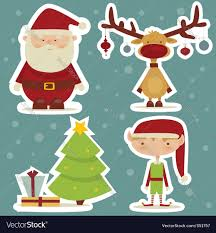 christmas stickers christmas sticker royalty free vector image vectorstock