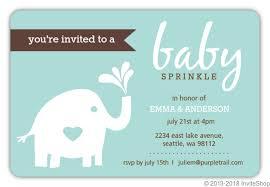 baby sprinkle invitations teal elephant baby sprinkle invitation baby shower invitations