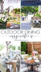 Backyard Dining by Outdoor Dining Inspiration Maison De Pax