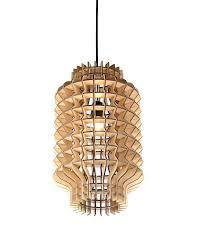 Pineapple Light Fixtures Modern Chinese Lantern Shape Wooden Pendant Light Wooden Lights