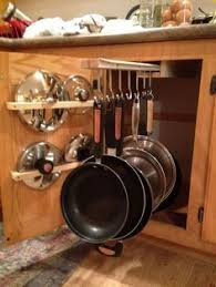 kitchen pan storage ideas dyi sliding pot rack cabinet storage ideas pot