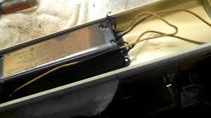 light fixture ballast testing and ballast replacement in an antique fluorescent light