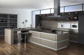 ilot central table cuisine cuisine design avec lot central les bains et cuisines d alexandre