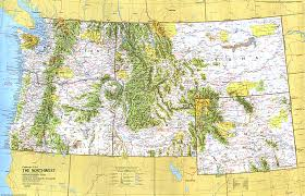 map usa northwest up usa northwest map