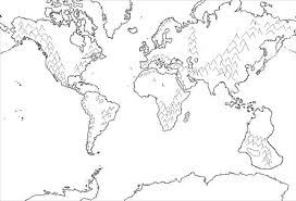 clipart world map coloring page countries world map for