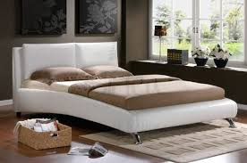 White Leather Bed Frame King Birlea Carnaby White 5ft Kingsize Faux Leather Bed Frame By Birlea