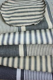 antique vintage french blue ticking fabrics project bundle for